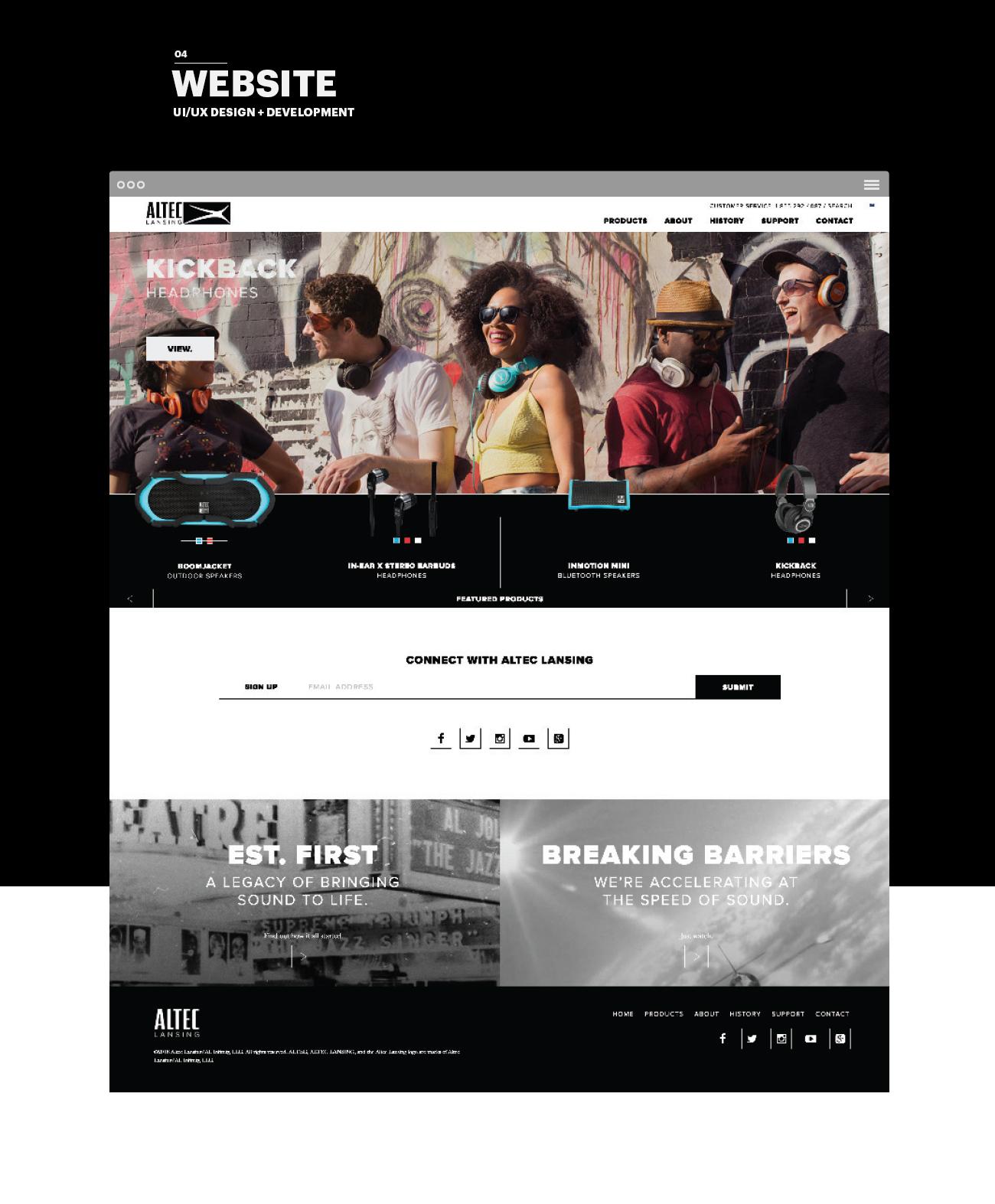 Altec Website Design
