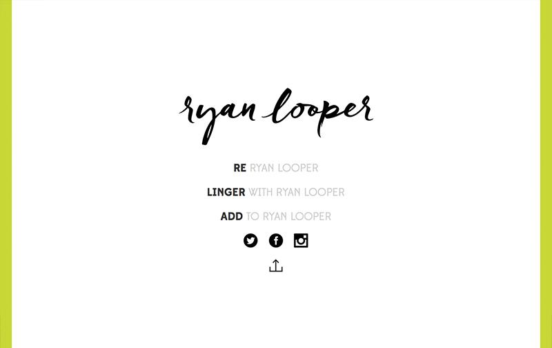 Ryan Looper Website Homepage