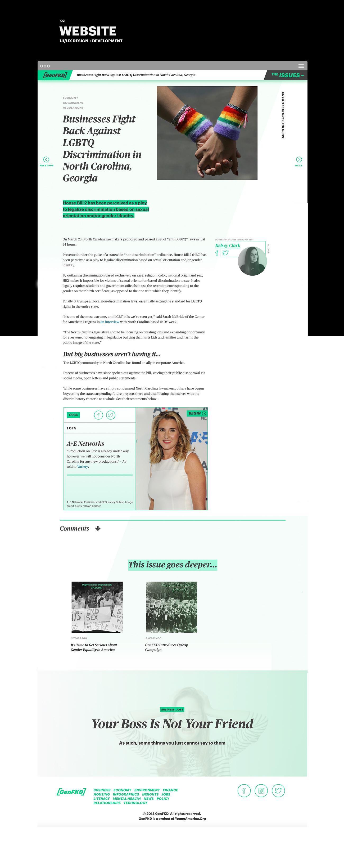 GenFKD Website UI UX Design and Development