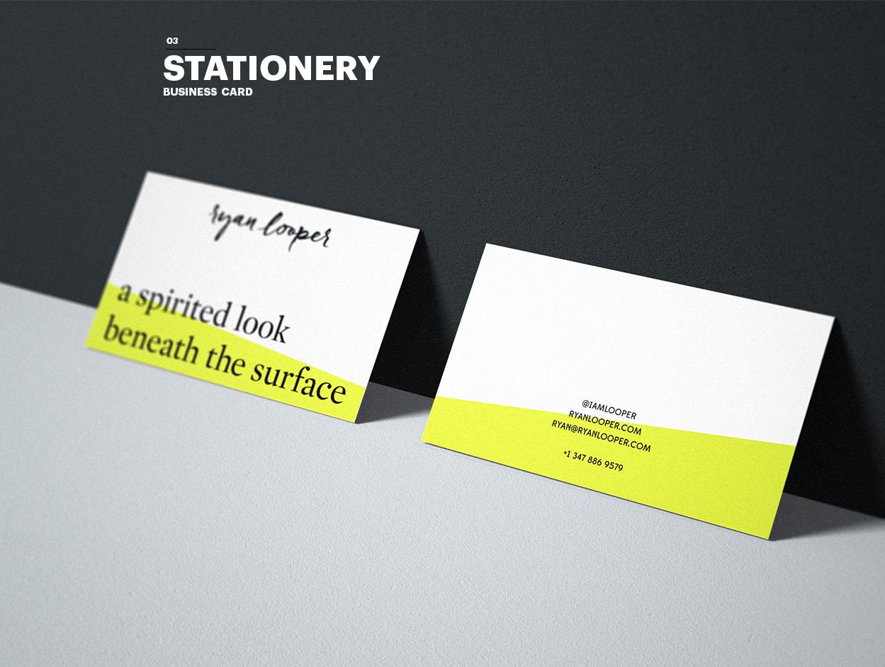 Ryan Looper Business card