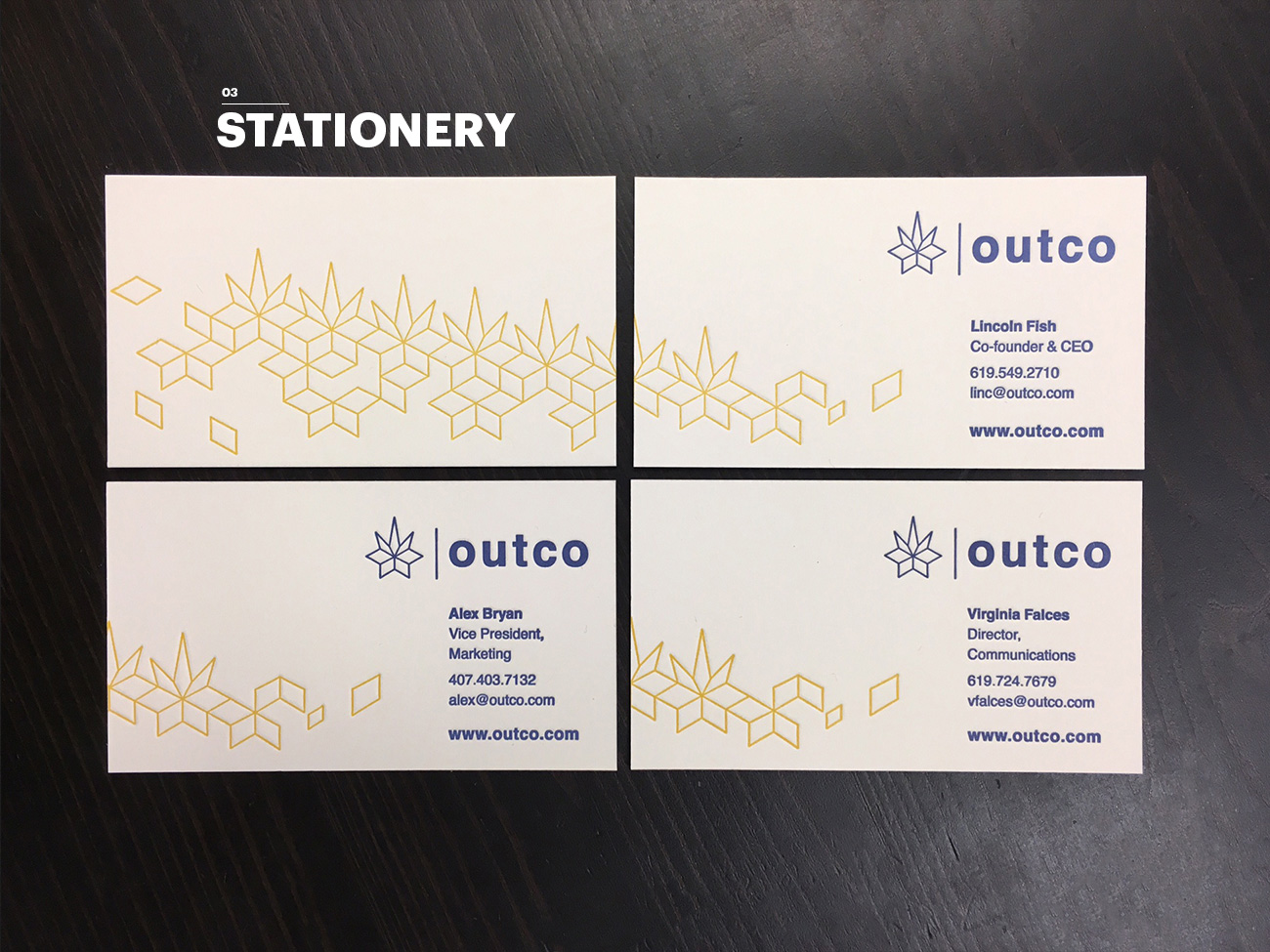 Outco Business Card Designs